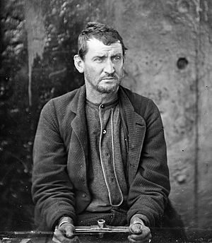 Edmund Spangler - Edmund Spangler after his arrest, 1865