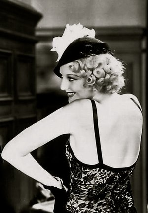 Eugénie hat - Thelma Todd wearing a Eugénie hat in the 1932 comedy Speak Easily
