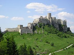 The Mongol invasion led to construction of mighty stone castles, such as Spiš Castle