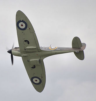Castle Bromwich - This Spitfire Mk 2A, now owned by the Battle of Britain Memorial Flight, was built at Castle Bromwich