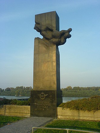 Operation Retribution (1941) - Monument to the Yugoslav pilots killed during Operation Retribution, located in New Belgrade
