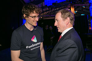 Web Summit - Paddy Cosgrave and Taoiseach Enda Kenny at the 2014 Web Summit