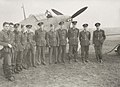 Squadron Leader E A McNab and his men, No 1 Squadron Royal Canadian Air Force and Hawker Hurricane (4822044058).jpg
