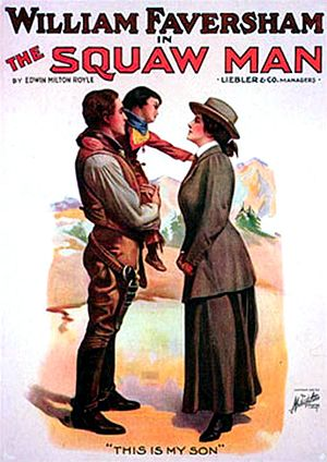 The Squaw Man (1914 film) - The Squaw Man. 1905 Broadway play.