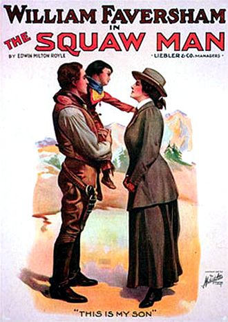 The Squaw Man (play) - Theatrical poster for The Squaw Man.