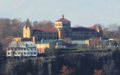 St. Peter's University Englewood Cliff campus from Fort Tryon Park.png