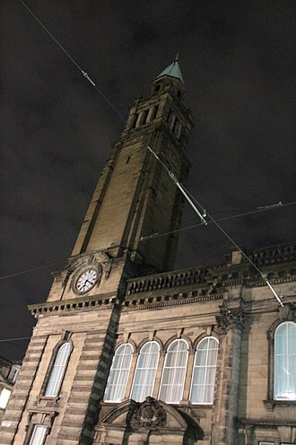 St Andrew's and St George's West Church - St George's Free Church, Shandwick Place, at night
