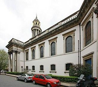 Thomas Hardwick - South Front, St Mary's, St. Marylebone Parish Church