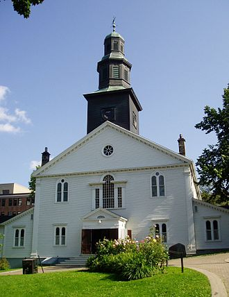 Religion in Canada - St. Paul's Church, Halifax, Nova Scotia, the oldest Anglican church in Canada still standing, built in 1750.