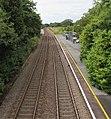 Staggered platforms at Clunderwen railway station - geograph.org.uk - 4614645.jpg
