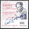 Stamp Germany 1996 Briefmarke Carl Zuckmayer.jpg