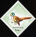 Stamp of Albania - 1968 - Colnect 312413 - Bearded Reedling Panurus biarmicus.jpeg