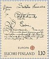 Stamp of Finland - 1979 - Colnect 46879 - Letter of Queen Christina to General Governor Brahe 1638.jpeg