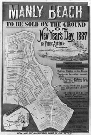 Moreton Bay - Land for sale in Manly in 1887