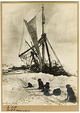 StateLibQld 1 242813 Frank Hurley's photograph of the Endurance being crushed by the ice in Antarctica, 1915