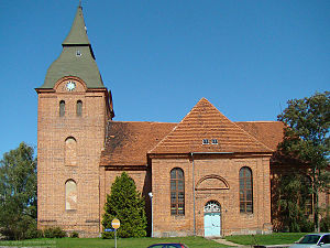Stavenhagen - Baroque brick church of Stavenhagen