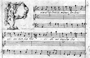 Agostino Steffani - Beginning from the autograph of the Duetto da camera Pria ch'io faccia by Agostino Steffani.