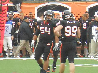 Stephen Paea - Paea (left) in a game vs. Louisville in 2010.