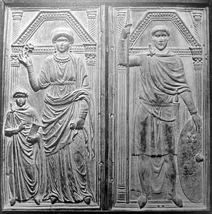 Serena (Roman) - Serena portrayed with her husband Stilicho and son Eucherius, ca. 400.