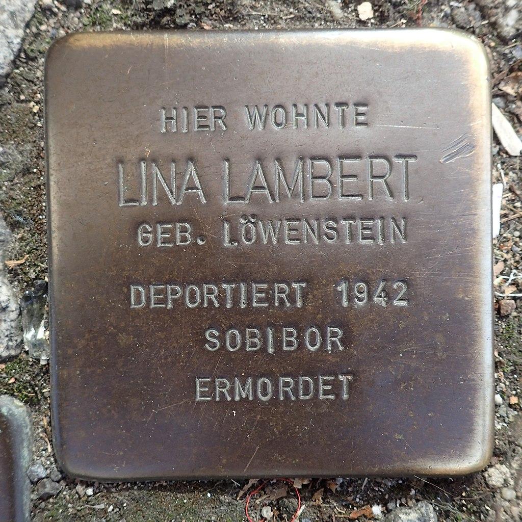 Stolperstein Andernach Wilhelmstraße 5 Lina Lambert