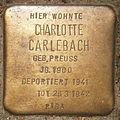 Stolperstein Hallerstraße 76 (Charlotte Carlebach) in Hamburg-Rotherbaum.JPG