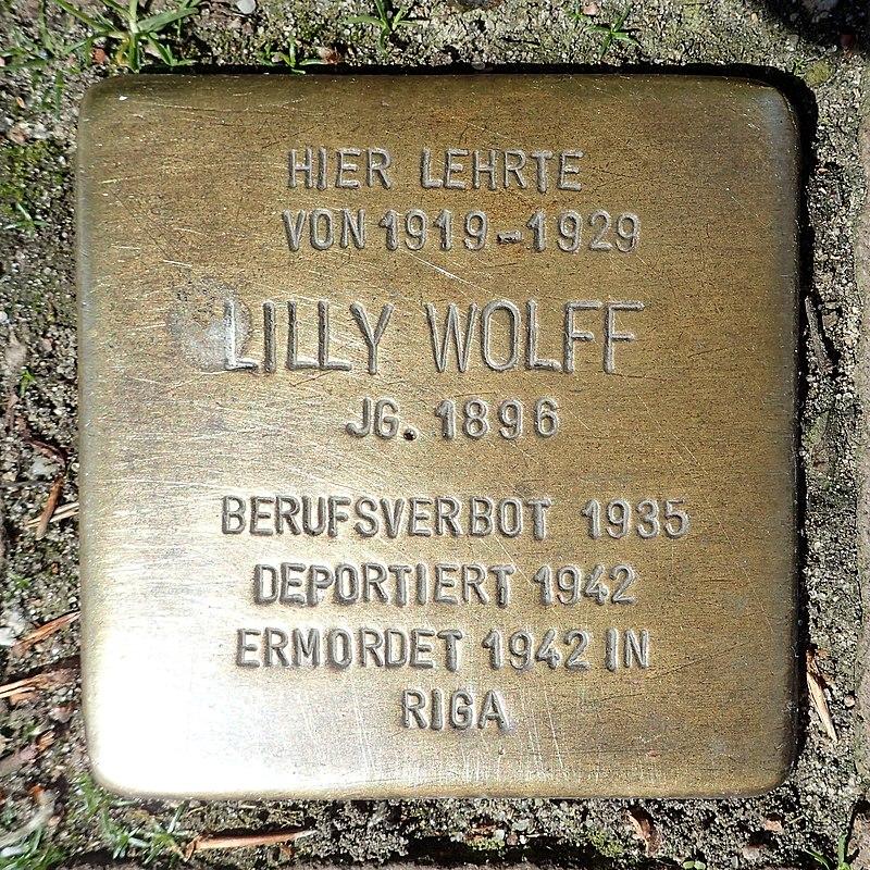 Stolperstein Heide Klaus-Groth-Straße 20 Lilly Wolff