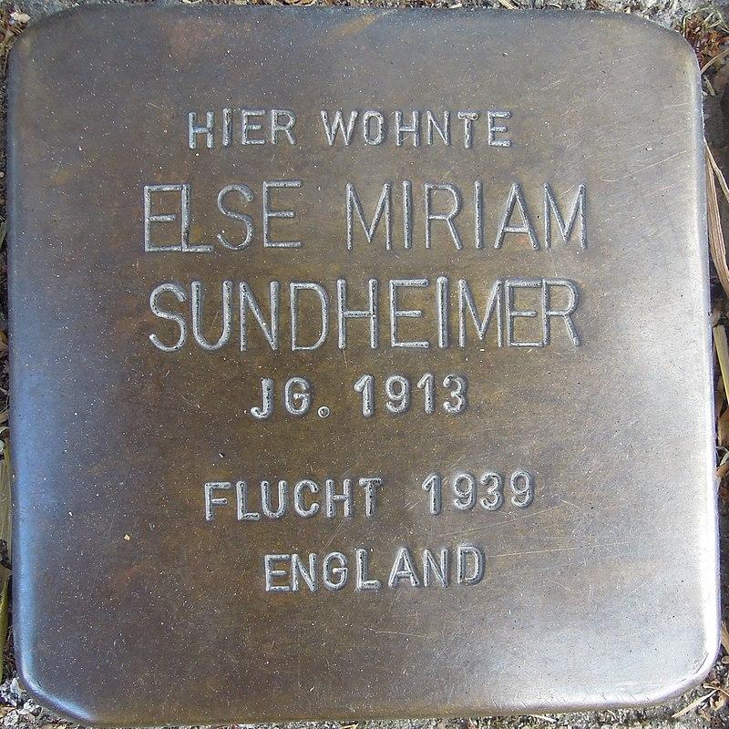 Stolperstein für Else Miriam Sundheimer