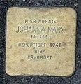 Stolperstein Johanna Marx, Gescher Bushaltestelle Fabrikstraße.jpg