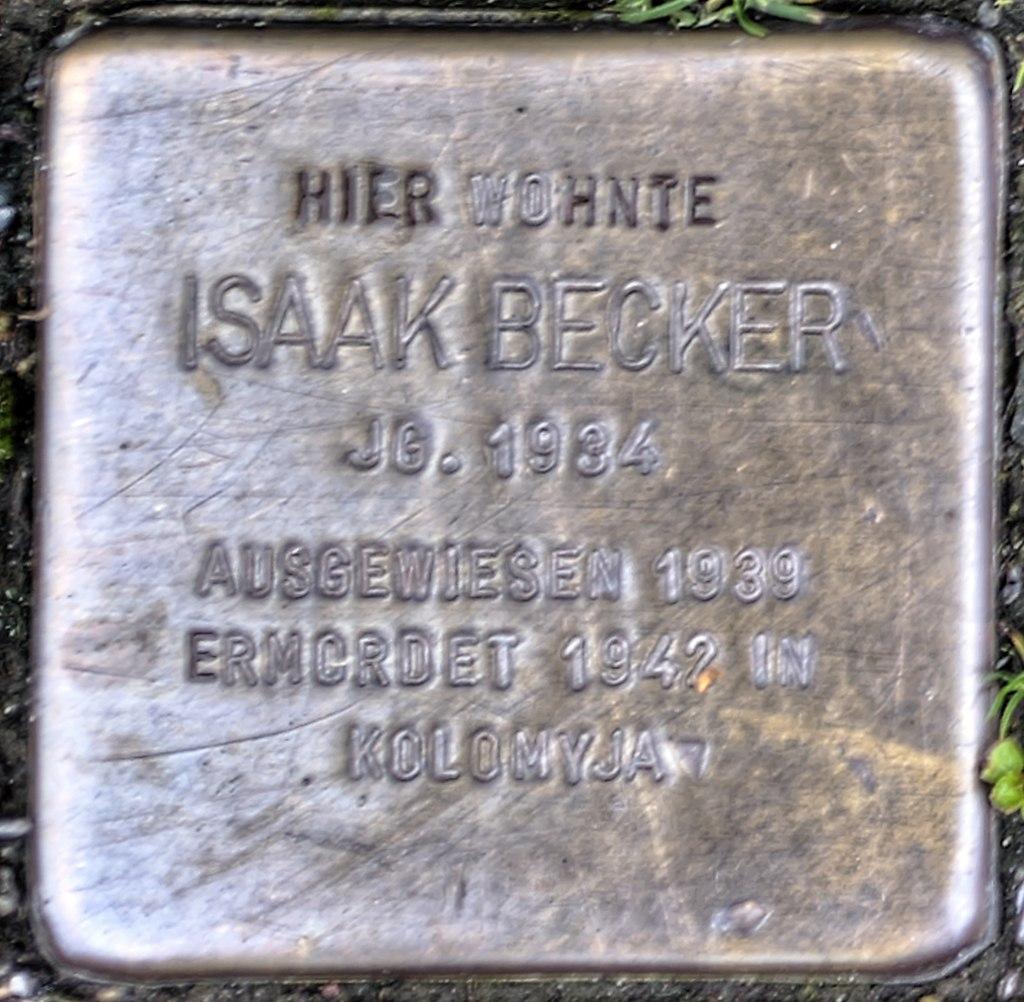 Stolperstein Remscheid Brüderstraße 3 Isaak Becker.jpg