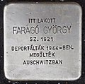 Stolperstein für György Farago (Nyíregyháza).jpg