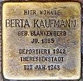 Stolpersteine Höxter, Berta Kaufmann (Marktstraße 27).jpg