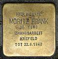 Stolpersteine Krefeld, Moritz Frank (Lewerentzstraße 21).jpg