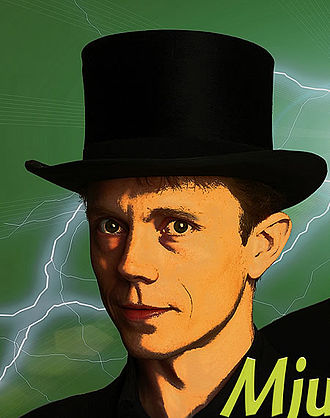 """Tom Stone (magician) - 2005 poster for show """"Mellow Men and Hard Hats"""", Stockholm"""