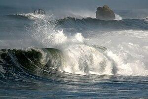 Sea Storm in Pacifica, California
