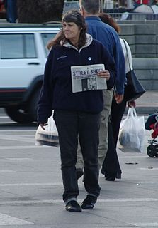 Street newspaper newspaper or magazine sold by the homeless or poor, produced mainly to support them, providing coverage about homelessness and poverty-related issues, aiming to give these people employment opportunities and a voice in their community
