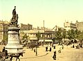 Street scene and monument in the Place Clichy Paris France.jpg