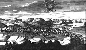 Uddevalla - Uddevalla around 1700, from the Suecia Antiqua et Hodierna