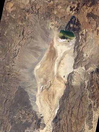 Namarunu - Satellite view of the Suguta Valley. Namarunu in the bottom left.