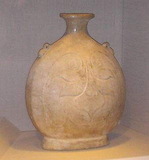 Sui dynasty - A Sui dynasty pilgrim flask made of stoneware