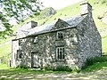 Sun-dappled facade of Allt-lwyd farmhouse - geograph.org.uk - 475145.jpg