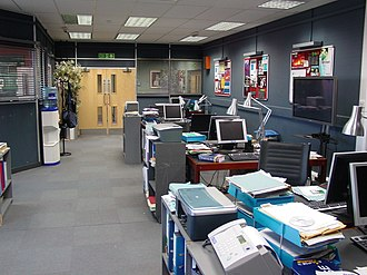 The Bill - Set of the CID office in the Merton studios (now Wimbledon Studios)