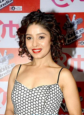 Sunidhi Chauhan - Chauhan at the launch of The Voice India in 2015