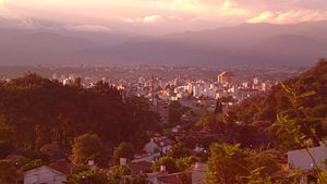 Salta Province - View of the Lerma Valley and the city of Salta.