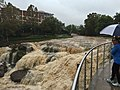 Swollen river in Greenville, South Carolina, October 3, 2015.jpg