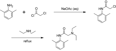 Synthesis of lidocaine.png