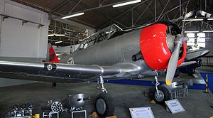 PoAF North American T-6 at the Portuguese Air Museum