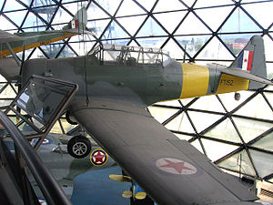 101st Fighter-Training Aviation Regiment - A North American T-6 Harvard trainer at the Belgrade Aviation Museum in colors that had been used by the 2nd Training Aviation Regiment