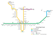 Toronto Subway Map.Toronto Subway Wikipedia