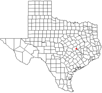 Gause, Texas - Location of Gause in the state of Texas.