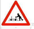 Unusual vehicles in roadway sign